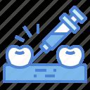 anesthetic, dental, inject, syringe icon