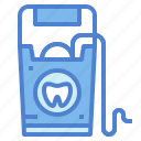 dental, dentist, floss, hygiene icon