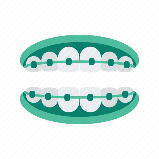 Braces, dental, dentist, healthcare, medical, teeth icon - Download on Iconfinder