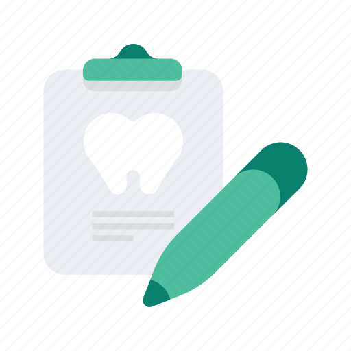 chart, clipboard, dental, dentist, healthcare, medical, teeth icon