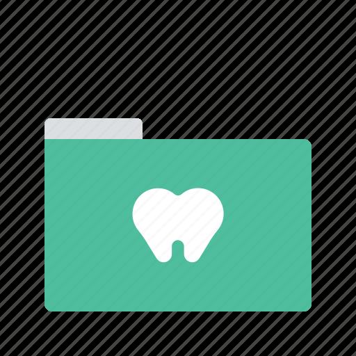 dental, dentist, file, folder, healthcare, medical, teeth icon