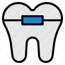 braces, dental, dentist, medical, tooth icon