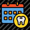 calendar, checkup, dental, dentist, medical, tooth