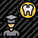 dental, dentist, education, medical, tooth icon