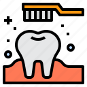 dental, dentist, medical, tooth, toothbrush icon
