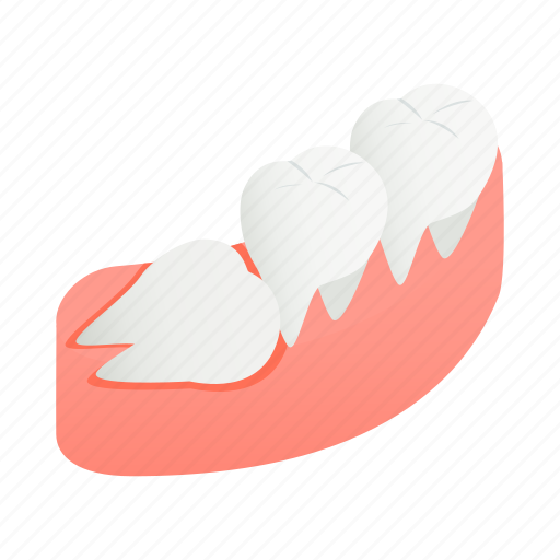 clean, crooked, dental, dentist, gum, isometric, tooth icon
