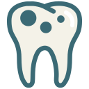 caries, decayed tooth, dental, dentist, dentistry, tooth, dental treatment icon