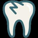 broken, broken tooth, dental, dentist, dentistry, tooth, dental treatment icon