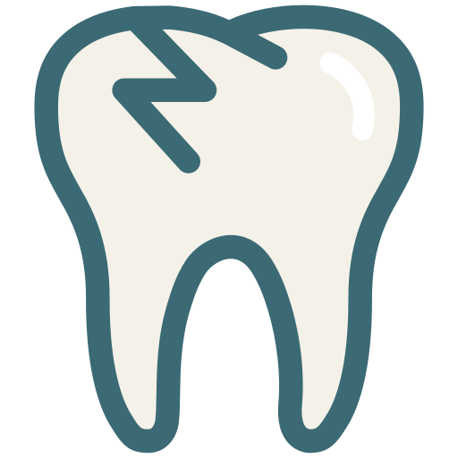 broken, broken tooth, dental, dental treatment, dentist, dentistry, tooth icon
