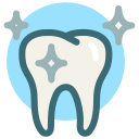 dental, bright, tooth, dentist, clean, white tooth, dental care icon