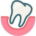 dental, dentist, dentistry, loose tooth, medical, tooth, dental treatment icon