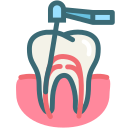 dental, dentist, dentistry, root canal, teeth, tooth, dental treatment icon