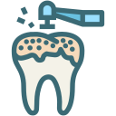oral hygiene, dental, tooth, dentist, dentistry, decayed tooth, teeth cleaning icon