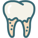 decayed tooth, dental, dental treatment, dentist, dentistry, teeth cleaning, tooth icon