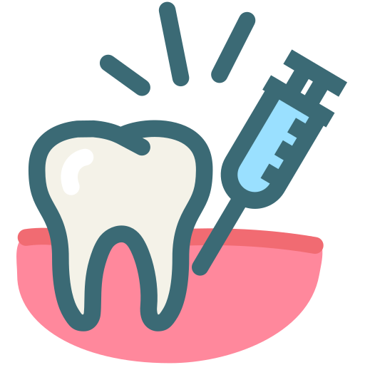 anesthetic, dental anesthesia, dental treatment, dentist, dentistry, painless, tooth icon