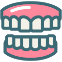 dental, dentist, dentistry, denture, gums, medical, tooth icon