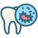 oral bacteria, oral hygiene, dental, tooth, dentist, dentistry, bacteria icon