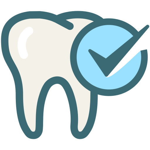 dental care, dentist, dentistry, medical, oral hygiene, tooth, tooth check icon