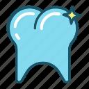 dental, dentist, dentistry, shiny, tooth icon