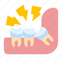 dental, pain, tooth, wisdom icon