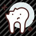 broken, dental, tooth, stomatology, teeth icon