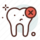 cancel, delete, dental, tooth icon