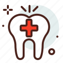 cross, dental, dentist, medical, tooth icon