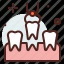 dental, extraction, emergency, medical, stomatology icon