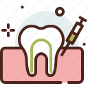 dental, injection, syringe, vaccine icon