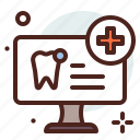 dental, screening, tooth, healthcare, medical icon