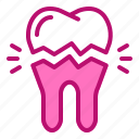 broken, clinic, dentist, molars, tooth icon
