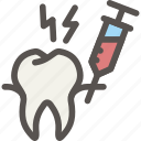 anesthesia, dental, dentist, health, painless, tooth icon