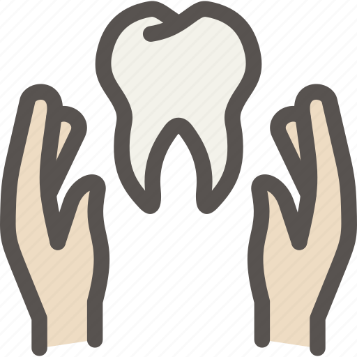 care, dental, dentist, hand, health, tooth, treatment icon