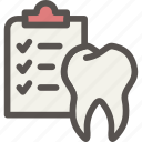 check, checklist, dental, dentist, health, tooth icon