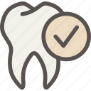 check, dental, dentist, good, health, healthy, tooth icon