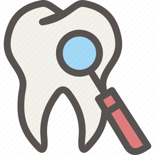 check, dental, dentist, health, mirror, tooth icon