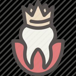 crown, crowns, dental, dentist, health, tooth icon