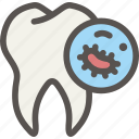 bacteria, dental, dentist, disease, germ, health, tooth icon