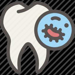 bacteria, dental, dentist, disease, germ, health, tooth icon