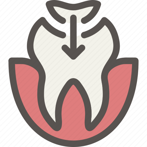dental, dentist, filling, health, seal, tooth icon