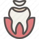 dental, dentist, filling, health, seal2, tooth icon
