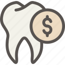 cost, dental, dentist, health, price, savings, tooth icon