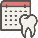 dental, dentist, health, schedule, tooth icon
