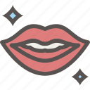 dental, dentist, health, healthy, lips, shine, tooth icon