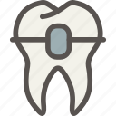 brackets, dental, dentist, teeth, tooth icon