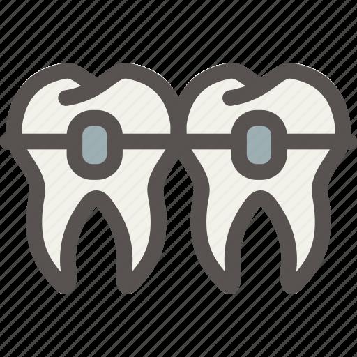 Brackets2, dental, dentist, teeth, tooth icon - Download on Iconfinder