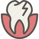 crack, dental, dentist, teeth, tooth icon