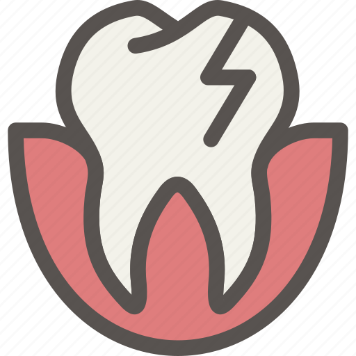crack, dental, dentist, teeth, tooth icon