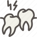 crooked, dental, dentist, ingrown, teeth, tooth icon
