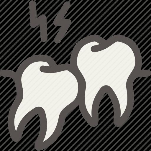 crooked, dental, dentist, ingrown, teeth, tooth icon